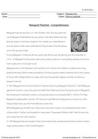 Margaret Thatcher - Comprehension