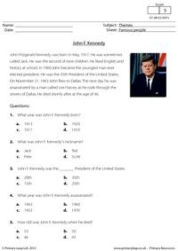 Comprehension - John F. Kennedy