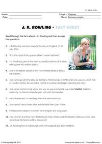 Fact Sheet - J. K. Rowling