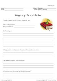 Biography - Famous Author