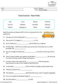 Cloze Exercise - Rosa Parks