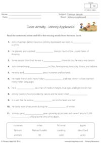 Cloze Activity - Johnny Appleseed
