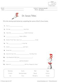 Dr. Seuss Titles