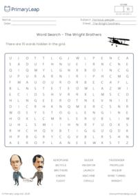 Word Search - The Wright Brothers