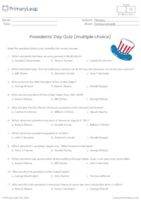 Presidents' Day Quiz (multiple choice)