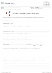 Research Report - Presidents' Day