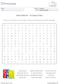 Word Search - Dr Seuss Titles (easy)