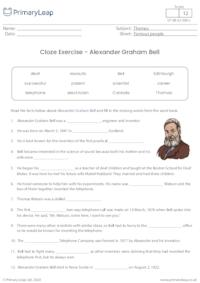 Cloze Activity - Alexander Graham Bell