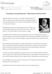 Reading Comprehension - Alexander Graham Bell