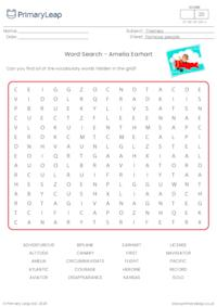 Amelia Earhart Word Search