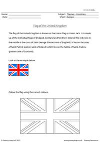 The United Kingdom Flag
