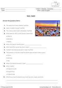 Quiz on Spain