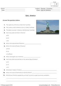 Quiz on America