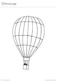 Colouring page - Air balloon
