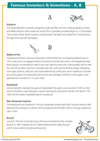 Famous Inventions & Inventors - A, B