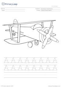 Aeroplane colour and trace