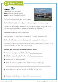 Comprehension - The River Trent