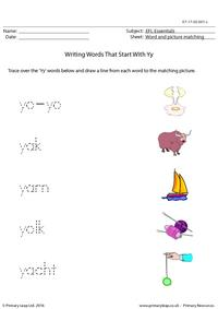 EFL Essentials - Words That Start With Yy