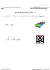 EFL Essentials - Words That Start With Xx