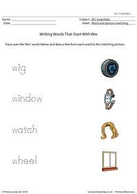 EFL Essentials - Words That Start With Ww