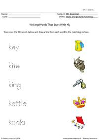 EFL Essentials - Words That Start With Kk