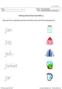 EFL Essentials - Words That Start With Jj