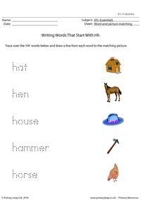 EFL Essentials - Words That Start With Hh