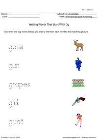 EFL Essentials - Words That Start With Gg