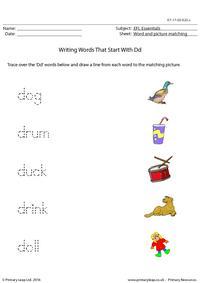 EFL Essentials - Words That Start With Dd