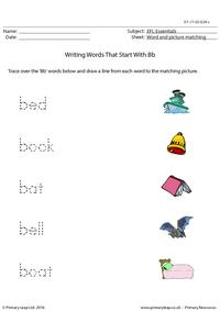 EFL Essentials - Words That Start With Bb