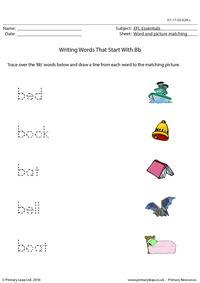 EFL Essentials - Words That Start With Bb